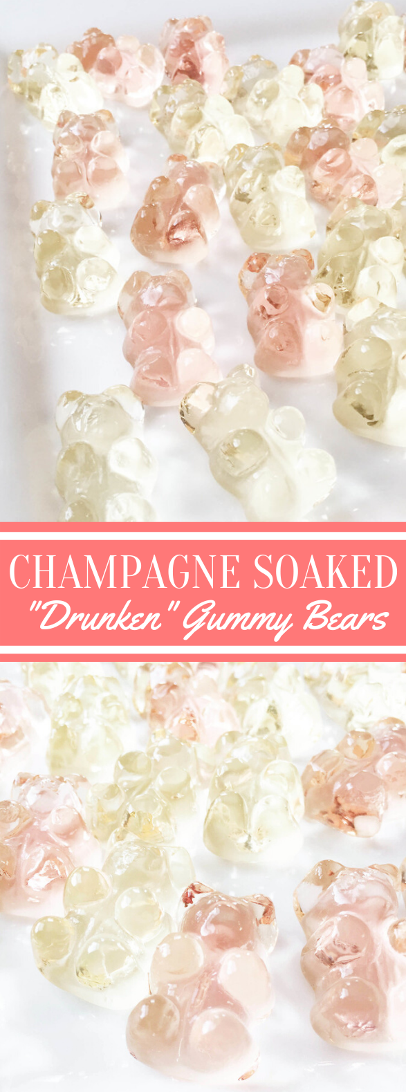Champagne Soaked 'Drunken' Gummy Bears #desserts #drinks