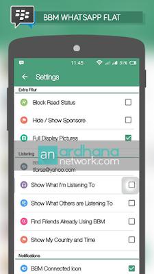 Preview BBM Whatsapp Flat Design
