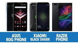 Perbandingan Asus ROG, Xiaomi Black Shark Dan Razher Phone