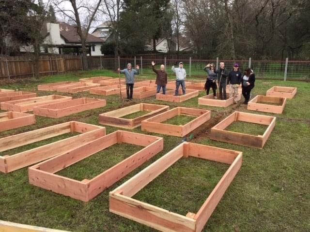 Orangevale Community Garden in progress