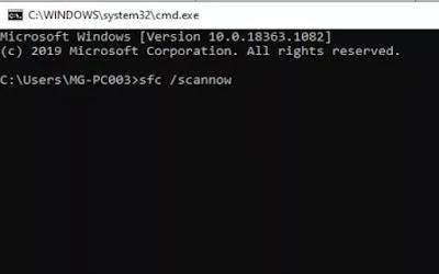 Memperbaiki file explorer melalui system