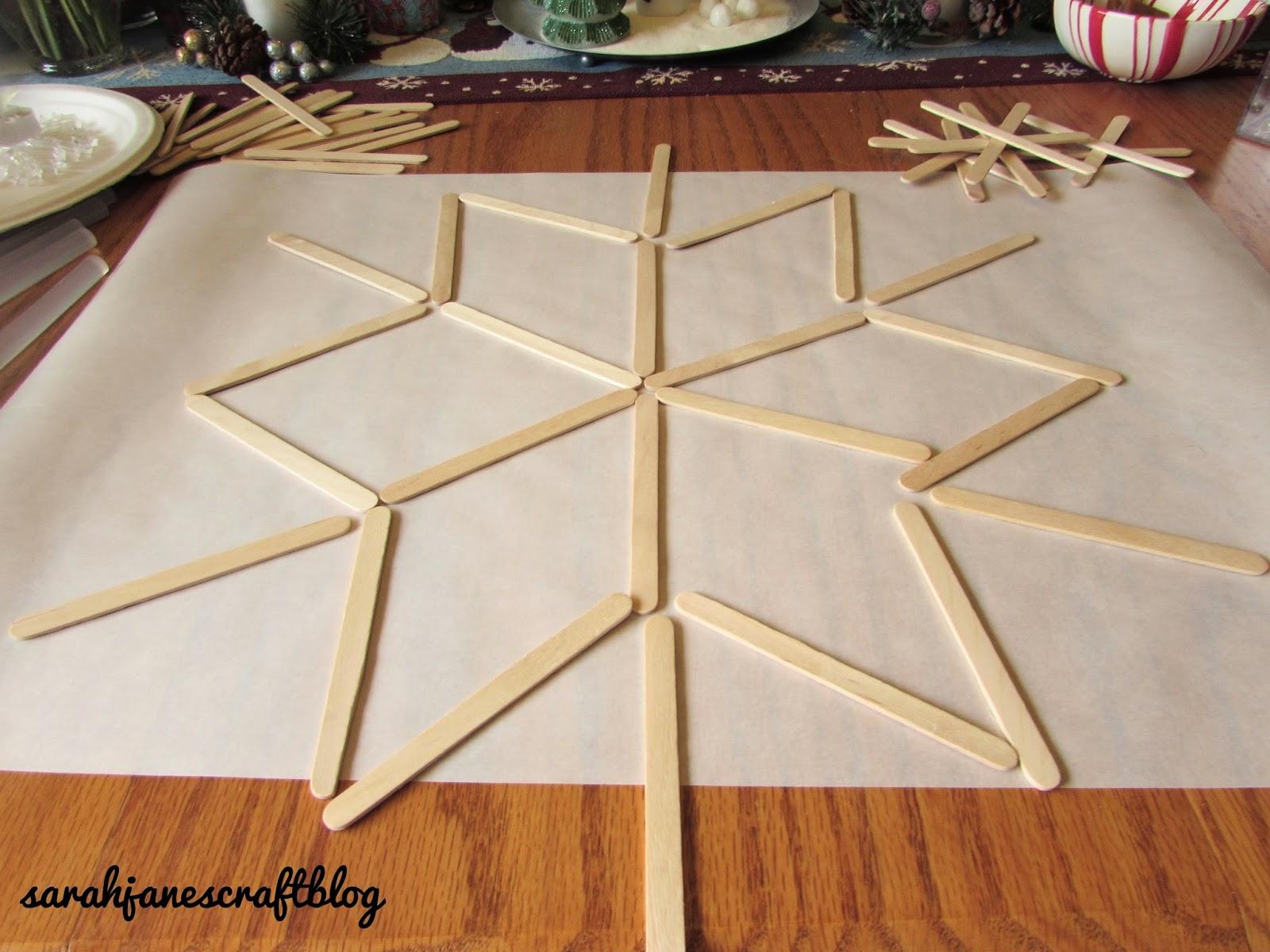 Sarah Jane's Craft Blog: Craft Popsicle Stick Snowflake ...