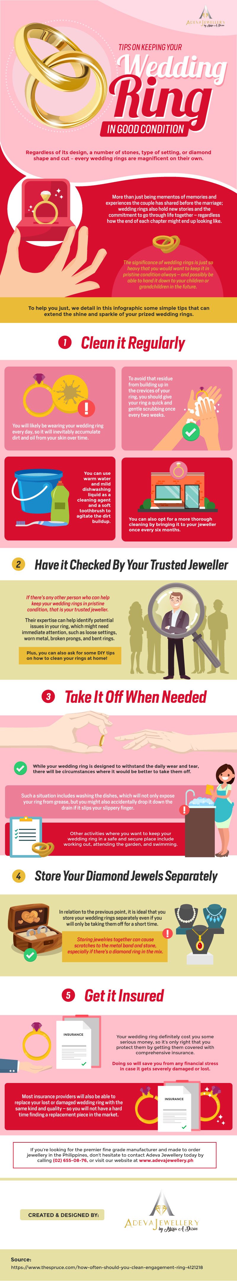 Tips on Keeping your Wedding Ring in Good Condition #infographic