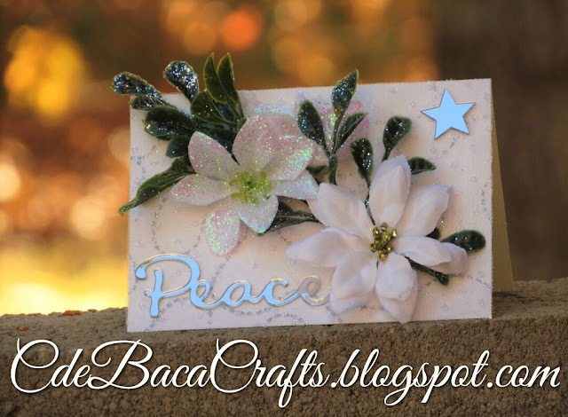 Handmade Christmas card for the holidays by CdeBaca Crafts blog.