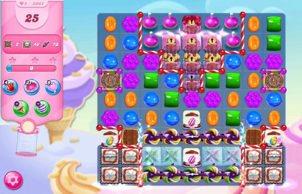 Candy Crush Saga level 5847