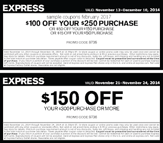 Express coupons for february 2017