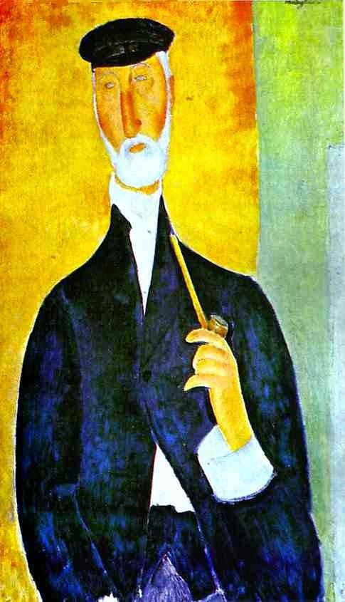 Homem com Cachimbo - Amedeo Modigliani e suas pricipais pinturas