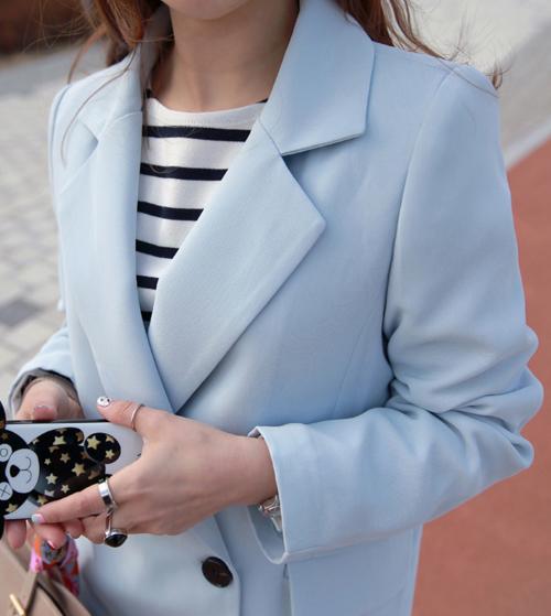Double-Breasted Jacket And Slacks