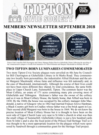 TCS newsletter Sept 2018