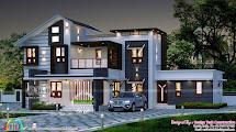 2609 Sq-ft 5 Bhk Modern House Plan Kerala Home Design