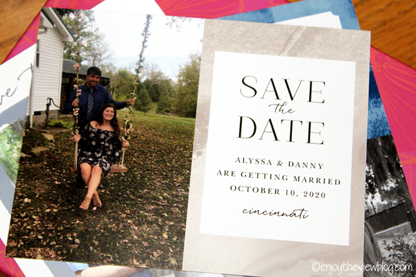 Blushing Gold Save-the-Date card from Basic Invite