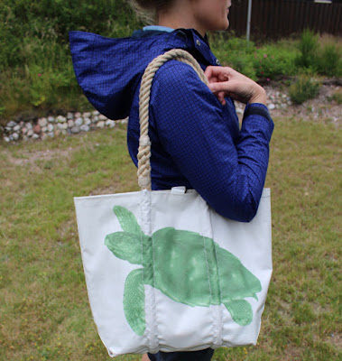 A bag made from recycled sails
