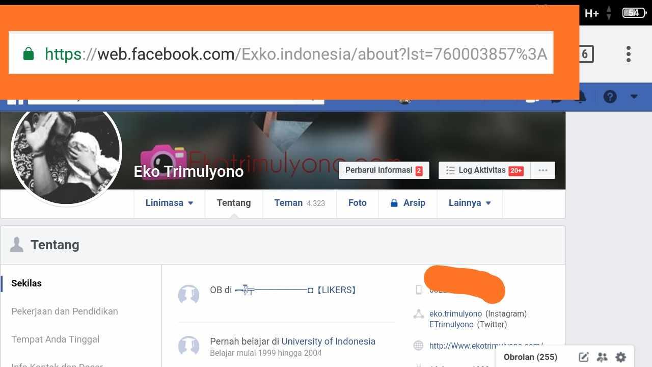 Id facebook sendiri