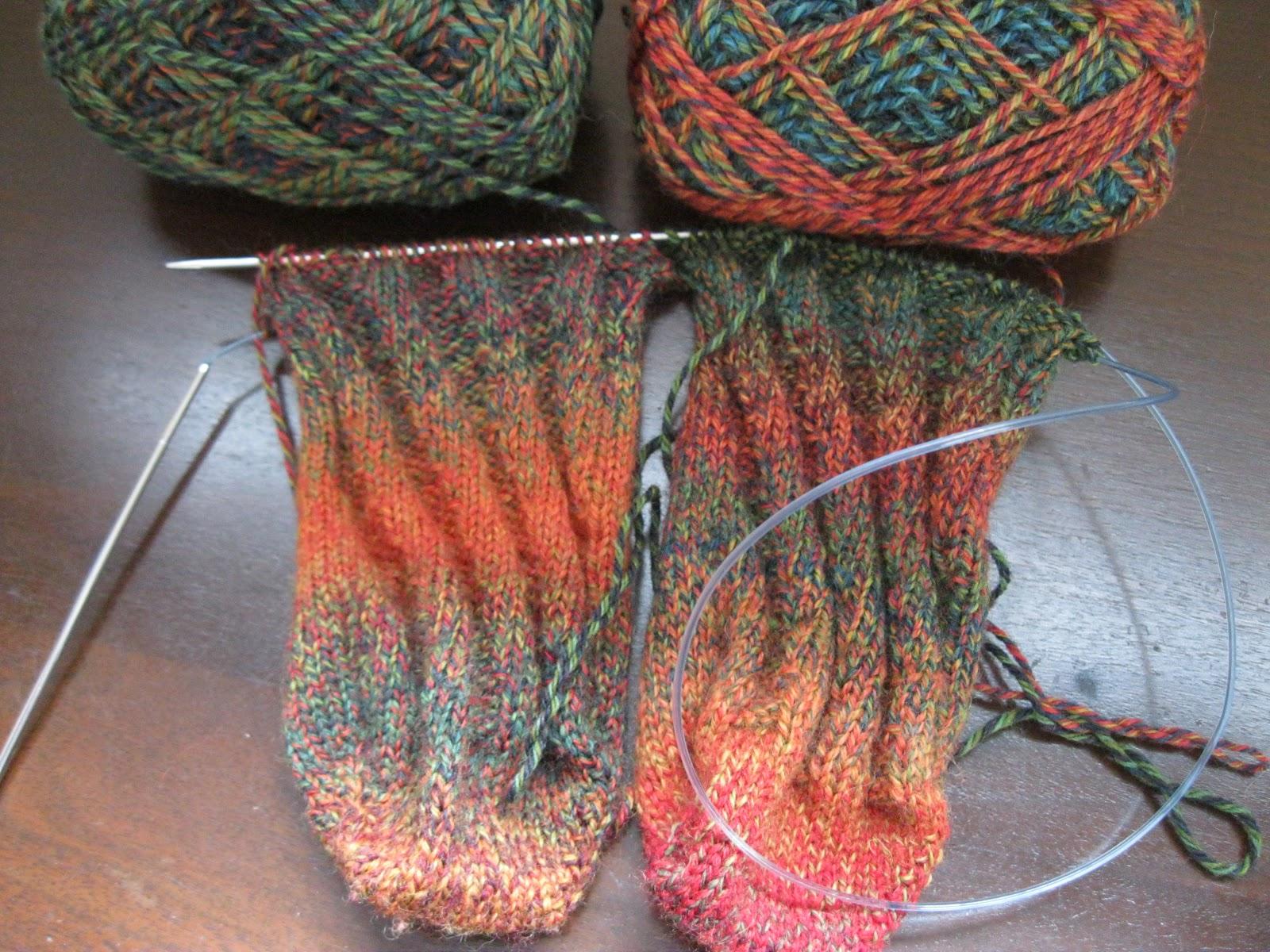 Perhaps I Should Have Been Supervised...: Spiral Socks