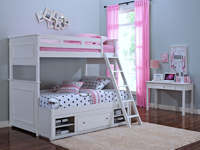 Giường ngủ gỗ có ngăn kéo dành cho bé