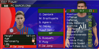 Download eFootball PES 2022 PPSSPP Menu Update Camera PS5 Real Face & New Transfer