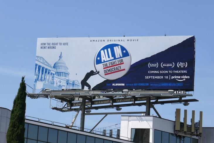 All In Fight for Democracy film billboard