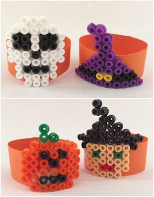 Hama bead Halloween napkin rings