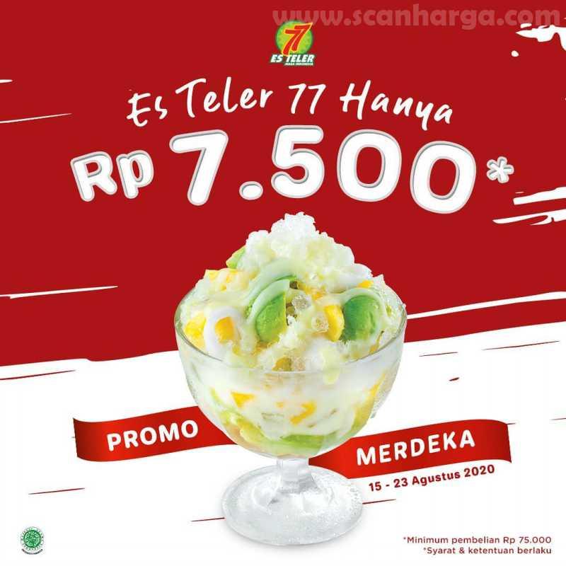 Es Teler 77 Promo Merdeka Hanya Rp 7.500 Periode 15 - 23 Agustus 2020