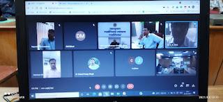गूगल मीट के माध्यम से समीक्षा बैठक में आयुक्त श्री सक्सेना ने दिए निर्देश