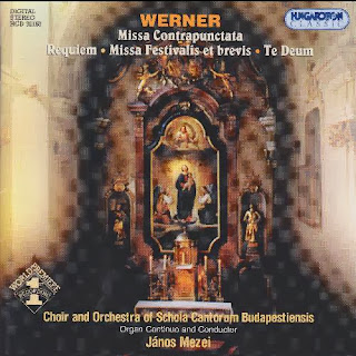 Gregor Joseph Werner (1693-1766) - Missa Contrapunctata, Missa Festivalis et brevis, Requiem, Te Deum