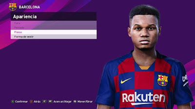 PES 2020 Faces Ansu Fati by Judas