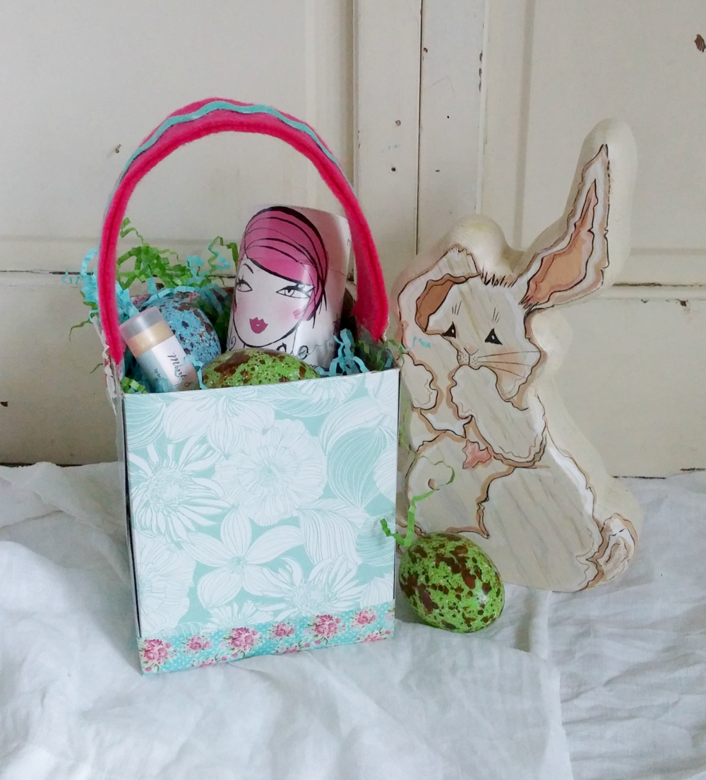 upcycled tissue box Easter Basket