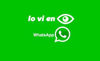 Lo vi en Whatsapp