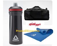 Logo Kellogg's '' Vinci ogni giorno 1 Kit Reebok'' ( 70 premi del valore di 114 euro)