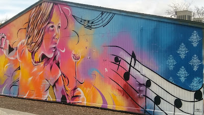 Street art at Carson City's Brewery Arts Center: commissioned mural by Bryce Chisholm