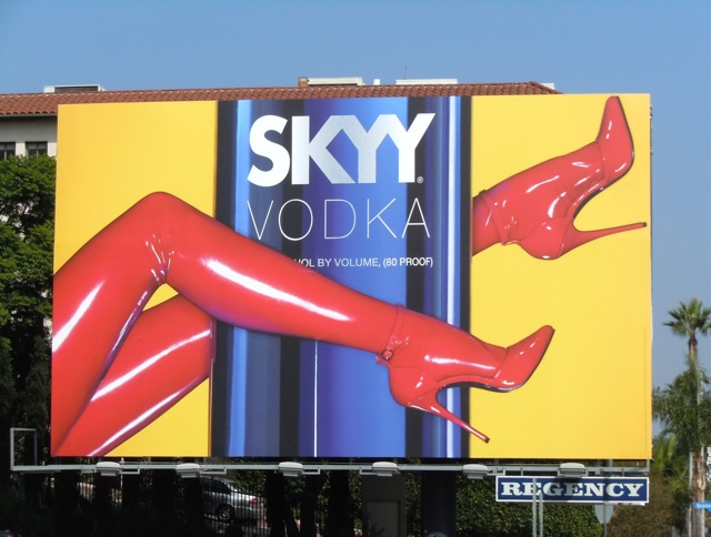 Skyy Vodka heels billboard