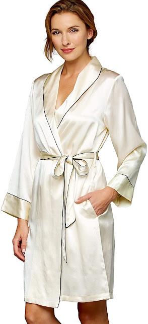 Short Silk Robes
