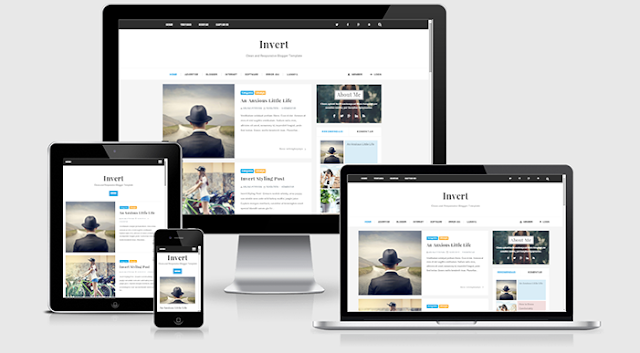 Invert SEO Respnsive Blogger Template Free Download
