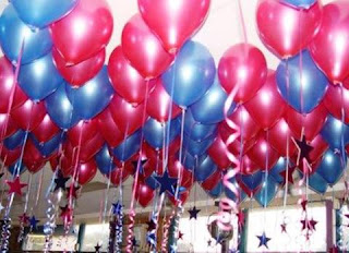 Balon Gas, balon Pelesapasan, Dekorasi balon