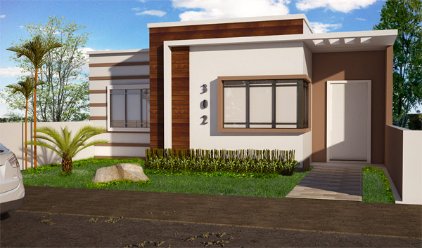 Fachadas para casas pequenas e modernas 40 fotos toda for Fachadas casa modernas pequenas
