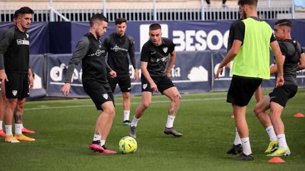 Málaga, Lombán y Escassi entrenan con normalidad junto al resto del grupo