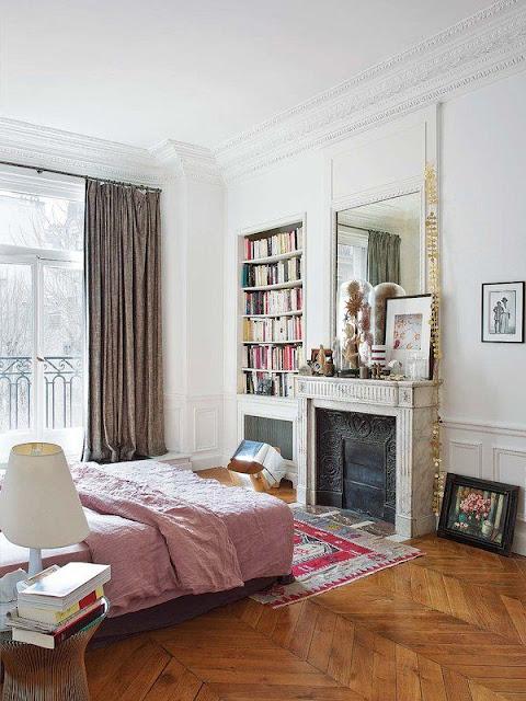 Parisian style bedroom