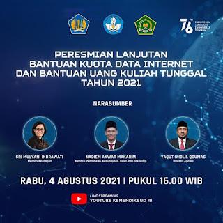 Peresmian Bantuan Kuota Internet September 2021