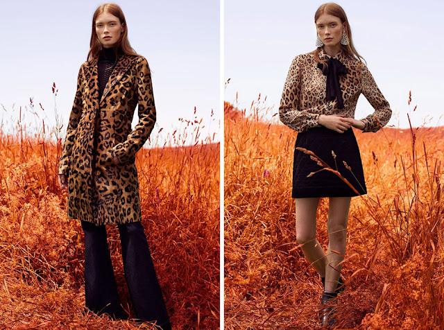 Леопардовое строгое пальто и леопардовая блузка с бантом