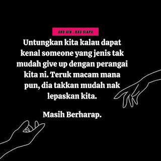 tak mudah give up