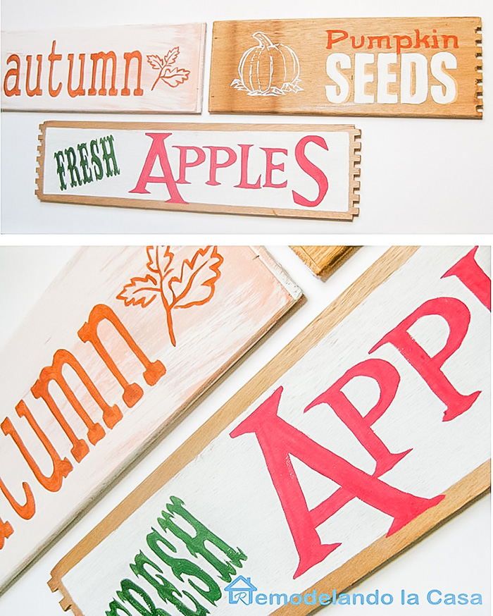 Fall - Autumns signs to decorate with - Fresh Apples