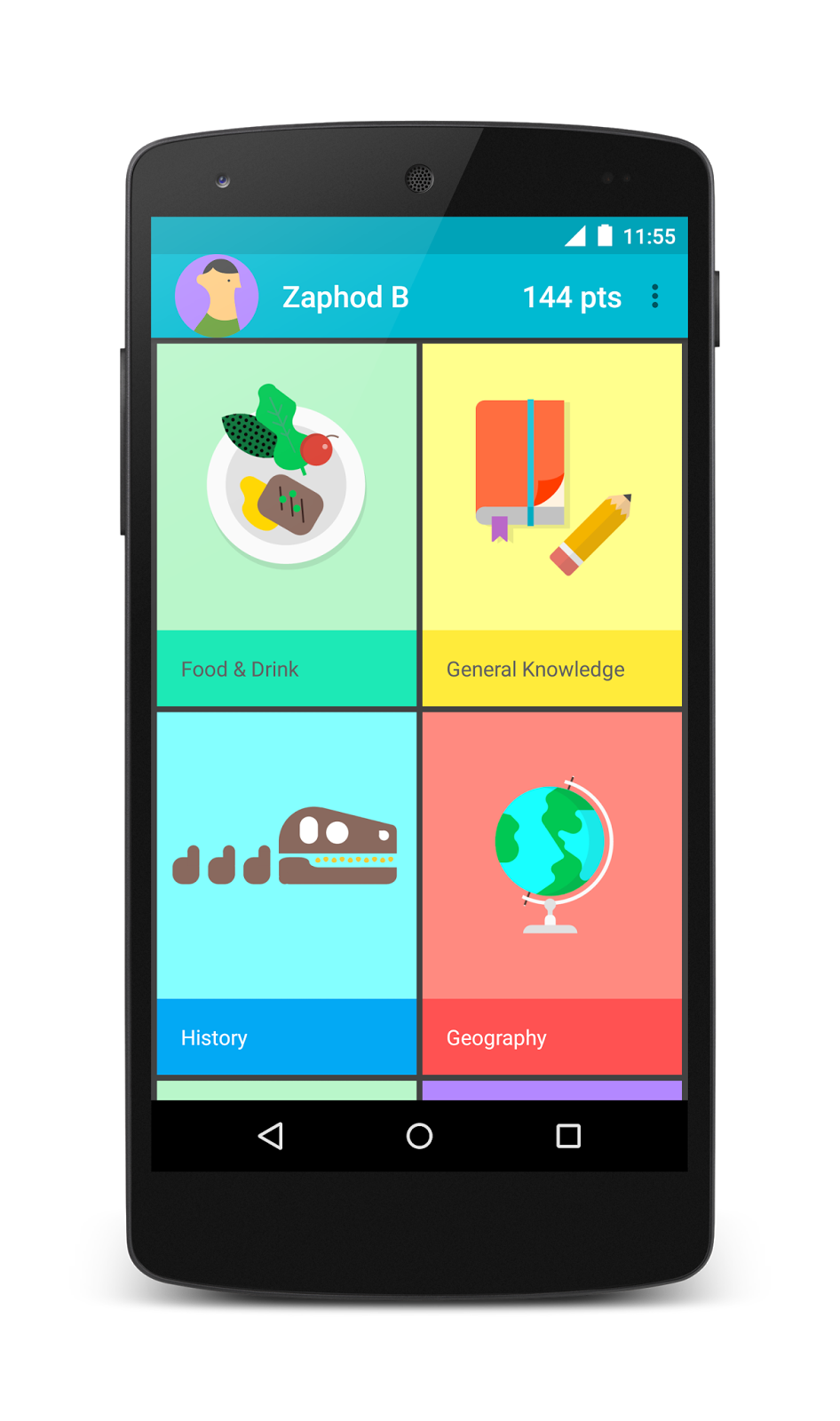 example the android version of topeka it demonstrates that the same branding and material design principles can be used to create a consistent