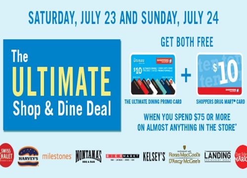 Shoppers Drug Mart Free Ultimate Shop & Dine Deal