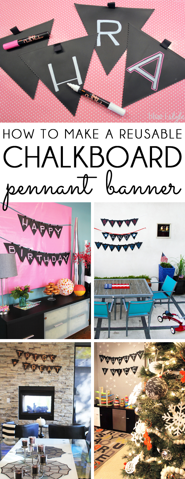 How to Make a Reusable Chalkboard Pennant Banner
