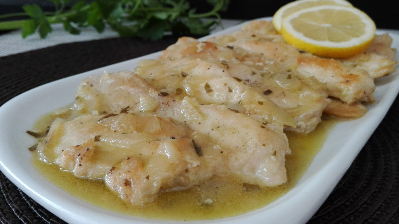 Pechugas de pollo al lim n acomerypunto - Pechugas de pollo al limon ...