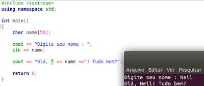 Usando CIN para receber texto em C++
