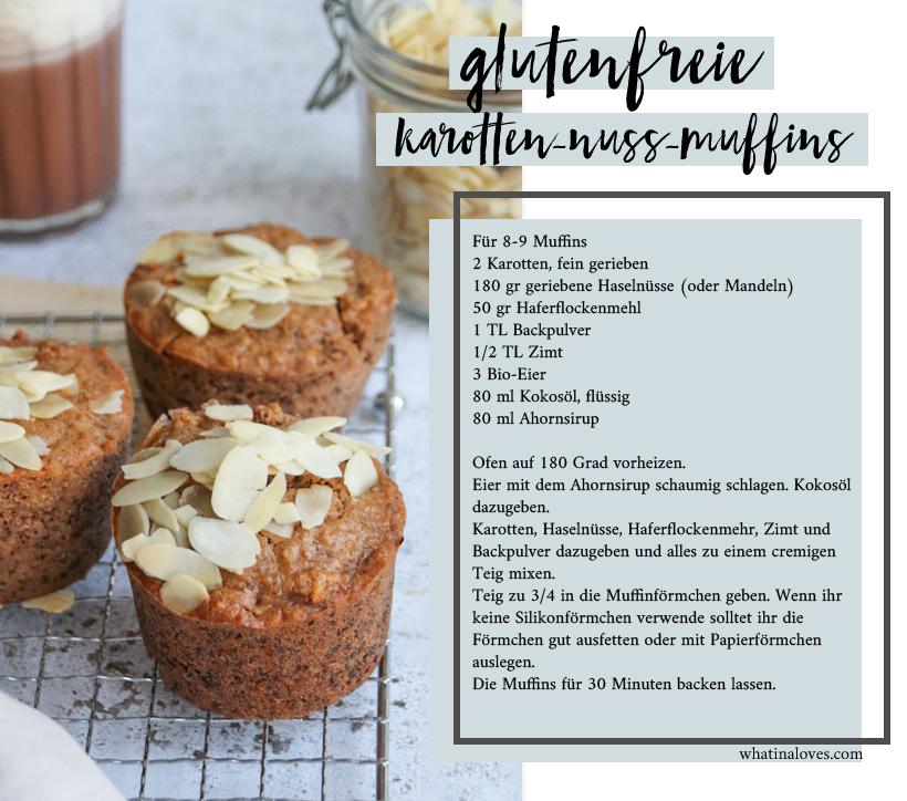 glutenfreie Karotten-Nuss-Muffins