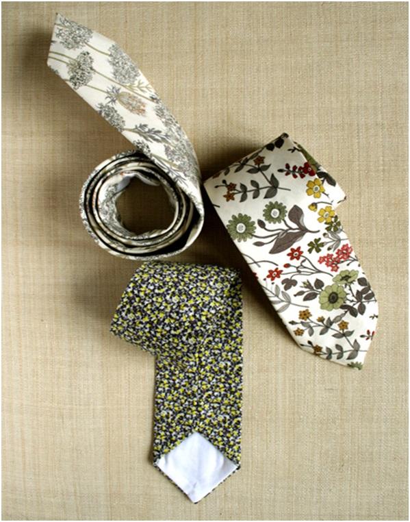 Babaya Özel El Yapımı Desenli Kravat