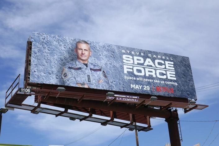 Space Force series premiere billboard