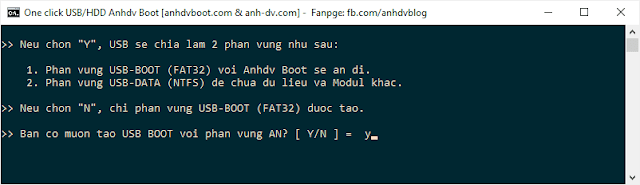 create usb boot 1 click Anhdv Boot